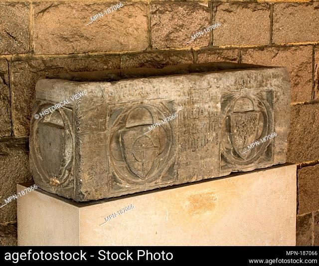 Sarcophagus. Date: 14th century; Geography: Made in Catalonia (?); Culture: Catalan or Italian; Medium: Limestone; Dimensions: Overall: 14 x 37 x 13 1/2 in