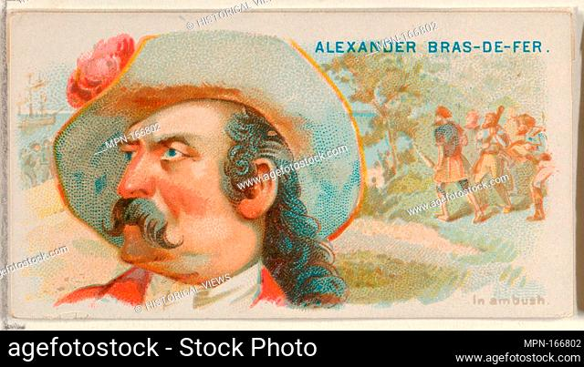 Alexander Bras-de-Fer, In Ambush, from the Pirates of the Spanish Main series (N19) for Allen & Ginter Cigarettes. Publisher: Allen & Ginter (American, Richmond