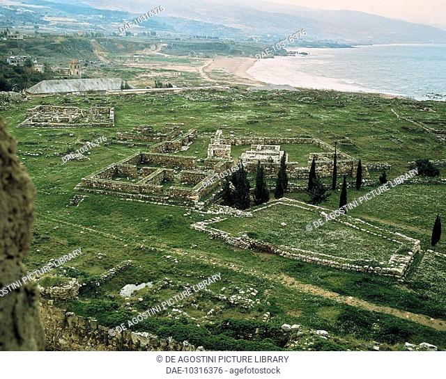 View of the ruins of the ancient Phoenician city of Byblos (Unesco World Heritage List, 1984), Lebanon