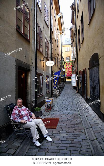 Small street in Gamla Stan, Stockholm, Sweden