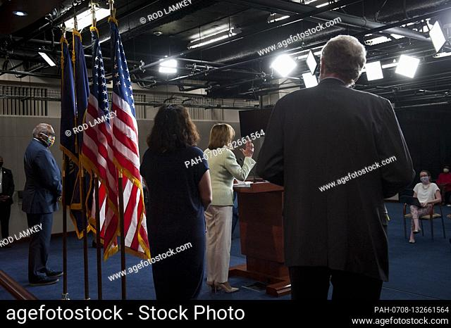House Speaker Nancy Pelosi (D-Calif) holds a press conference on the Trump Administration's response to, and House Democrats' plan for COVID-19 testing in the...