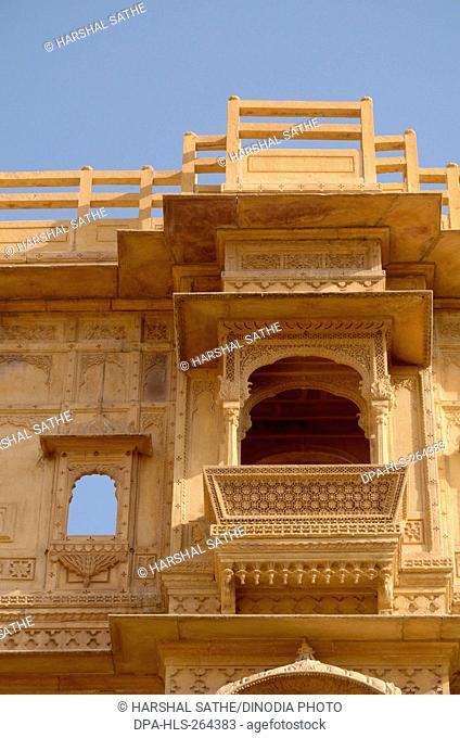 Balcony in Haveli, Jaisalmer, Rajasthan, India, Asia