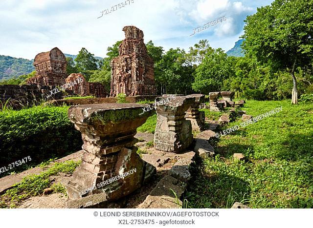 Ancient temple ruins of Group B. My Son Sanctuary, Quang Nam Province, Vietnam