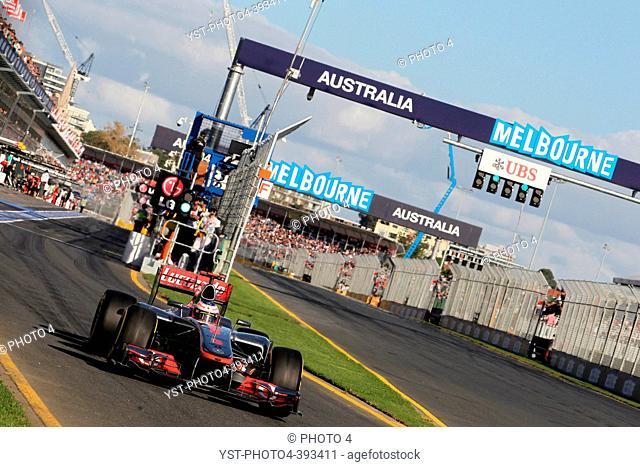 Jenson Button GBR McLaren Mercedes, F1, Australian Grand Prix, Melbourne, Australia