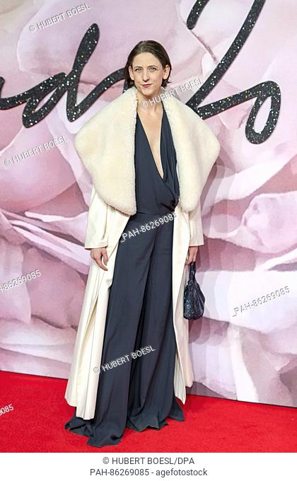 Maria Grachvogel attends The Fashion Awards at Royal Albert Hall in London, Great Britain, on 05 December 2016. Photo: Hubert Boesl - NO WIRE SERVICE - Photo:...