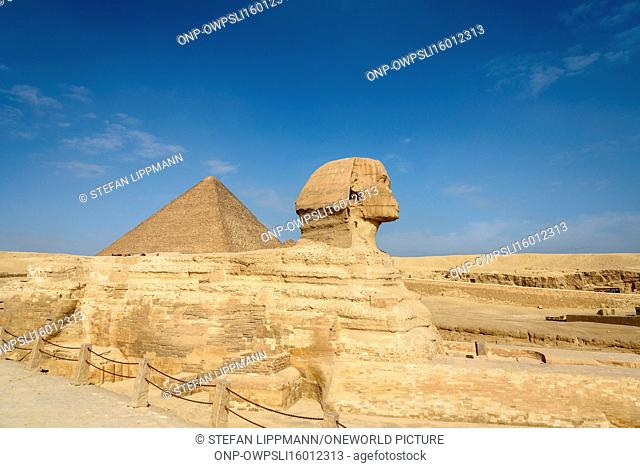 Egypt, Giza Gouvernement, Giza, The Pyramids of Giza are UNESCO World Heritage sites