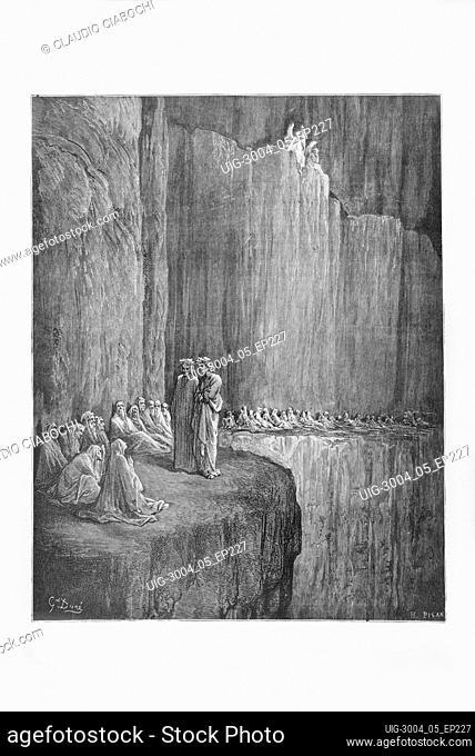 Gustave Doré, The Divine Comedy, La Divina Commedia, Purgatorio, canto XIII, v. 139-140, 1887, print engraving, (Ambrosini collection)