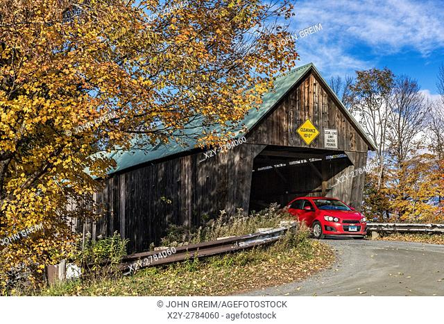 Lincoln Covered Bridge, Woodstock, Vermont, USA