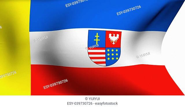 Flag of Swietokrzyskie Voivodeship, Poland against white background