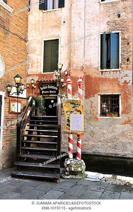 Romantic place in the city of Venice