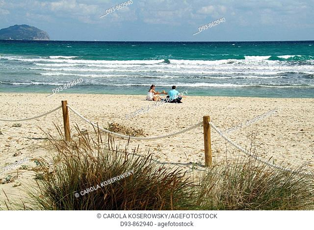 E, Spain, Europe, Balearic islands, Mallorca, Alcudia, Bay