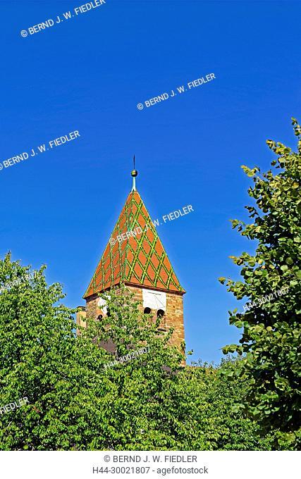 Turm, Sonnenuhr, Dach, Muster, Kloster, Saints-Pierre-et-Paul