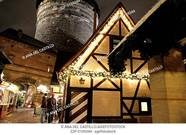 Christmas market Nuremberg. Germany
