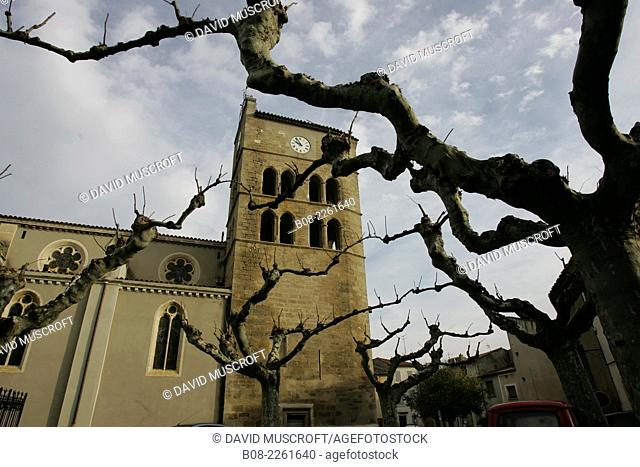 Church of Notre Dame in Coursan,Languedoc, southern France