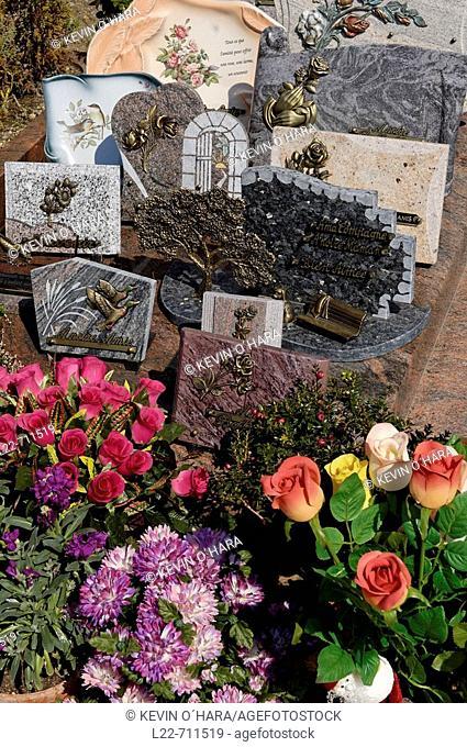 The cemetery. Lavardin village is a member of the association of Les Plus Beaux Villages de France ('The most beautiful villages of France')