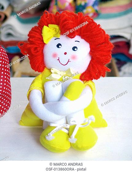 a funny colorful dummy doll