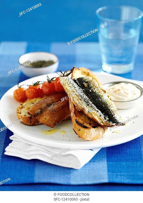 Scottish breakfast: kippers on toast