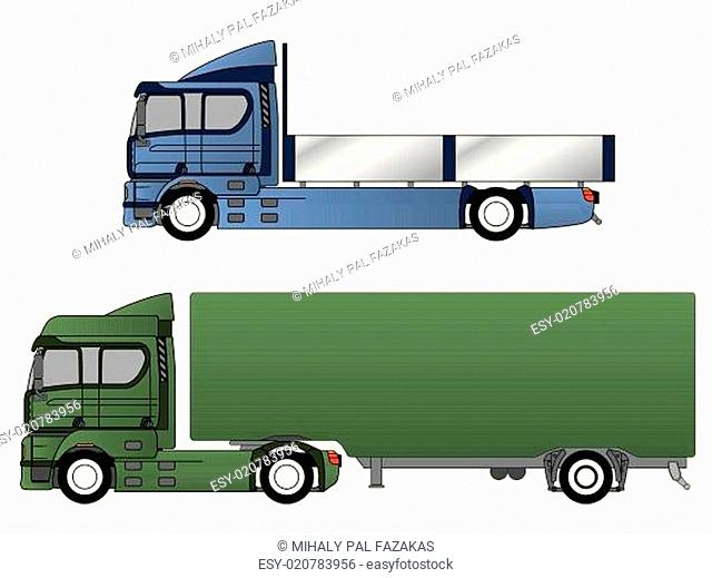 Double cab trucks with various chassis