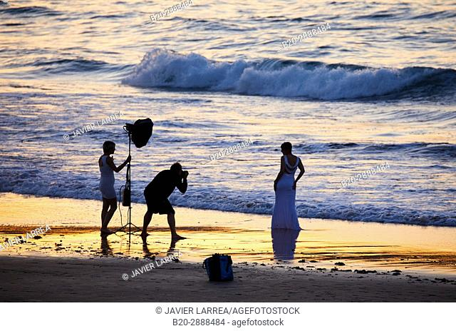 Wedding photo, Beach, Hendaye, Aquitaine, Pyrenees Atlantiques, France