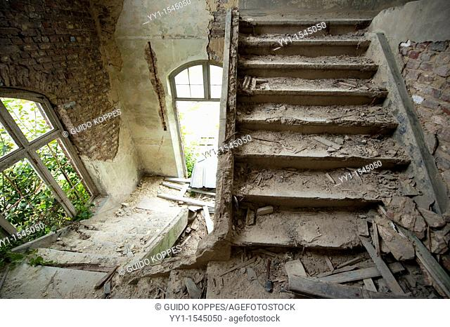"""Luik / Liege, Belgium. Abandoned military fort and barracks """"""""Fort la Chartreuse"""""""", which has been used between the 19th century and World War 2"""