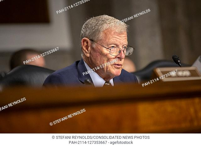 United States Senator Jim Inhofe (Republican of Oklahoma) speaks prior to the testimony of Director of Defense Capabilities and Management at the Government...