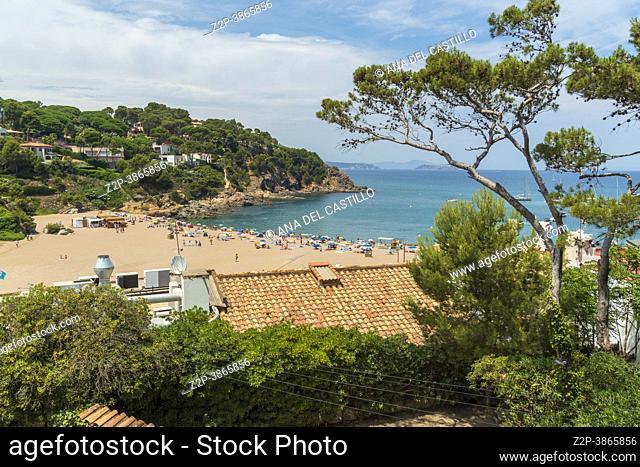 Sa Riera beach in Costa Brava Girona Catalonia Spain