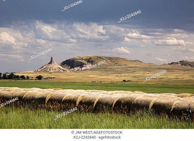 Bayard, Nebraska - Chimney Rock National Historic Site. Chimney Rock was a landmark for westward-bound pioneers traveling on the Oregon Trail and the Mormon...