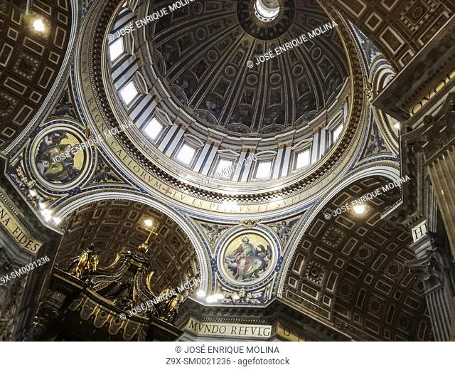 Basilica of Saint Peter (1506-1626) in the Vatican, Rome, Italy