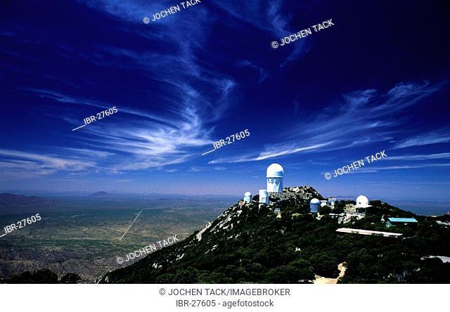 USA, United States of America, Arizona: Kitt Peak National Observatory south of Tucson