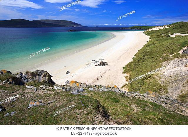 Sandy baech at Balnakeil Bay, Scotland