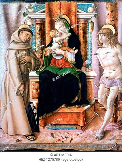 'The Virgin and Child with Saints Francis and Sebastian', 1491