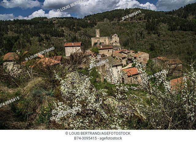 typical village of high loire in Auvergne