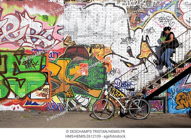 France, Haute Garonne, Toulouse, Graffitis in the university district