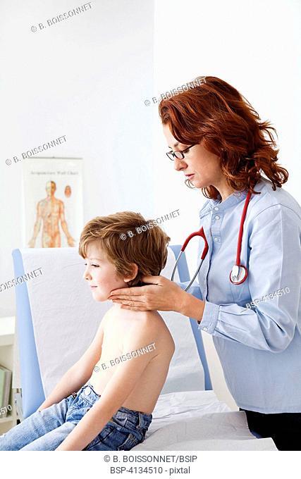 LYMPH NODE, CHILD Consultation médicale d'un garçon de 7 ans