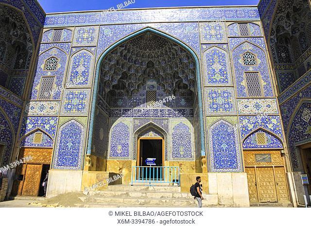 Sheikh Lotf Allah Mosque facade. Naqsh-e Jahan Square. Isfahan, Iran. Asia