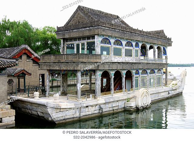 Clear and Peaceful Boat, Marble Boat, Yiheyuan Summer Palace, Beijing, China