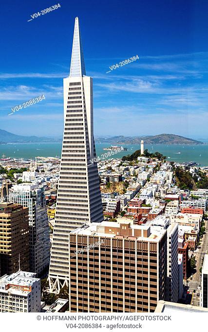 San Francisco skyline with Transamerica Pyramid, California, USA