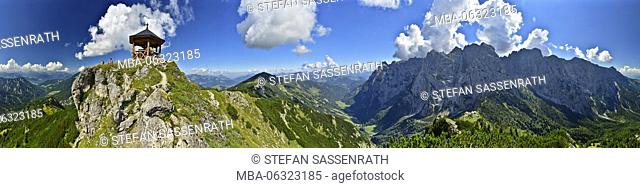 Panoramic view from Stripsenkopf (mountain) against Wilder Kaiser