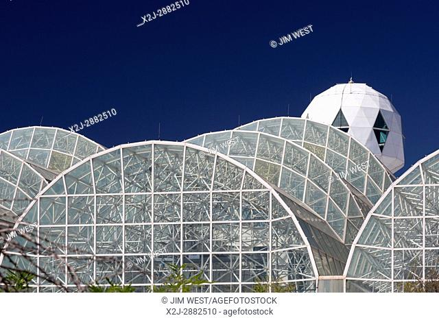 Oracle, Arizona - Biosphere 2. People lived in the sealed Biosphere2 for as long as two years in the early 90s as an experiment in developing self-contained...