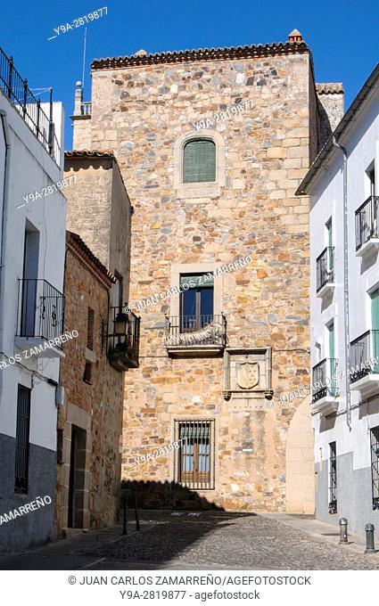 Casa de los Sanchez Paredes, Caceres, historical downtown, Unesco World Heritage, Patrimonio de la Humanidad, Caceres, Extremadura, Spain
