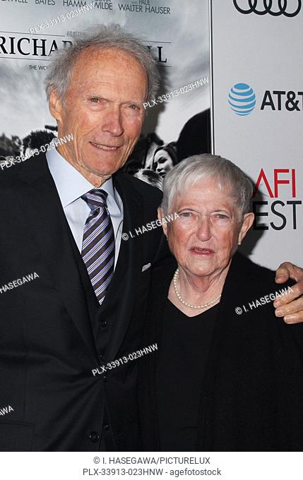 """Clint Eastwood, Barbara Bobi Jewell 11/20/2019 AFI Fest 2019 Gala Screening """"""""Richard Jewell"""""""" held at the TCL Chinese Theater in Los Angeles, CA"""