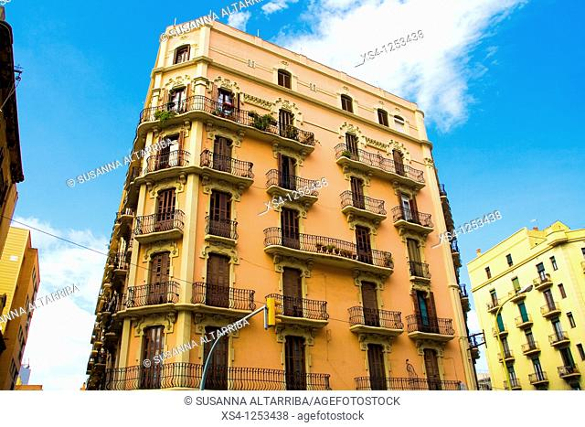 Building 'El Gururú' - In Pere IV, 193 street, Poble Nou district, Barcelona, Spain, Europe. Beginning of the 20th century