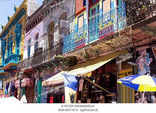 La Boca district, known for its vibrant colours, restaurants and the tango, Buenos Aires, Argentina, South America