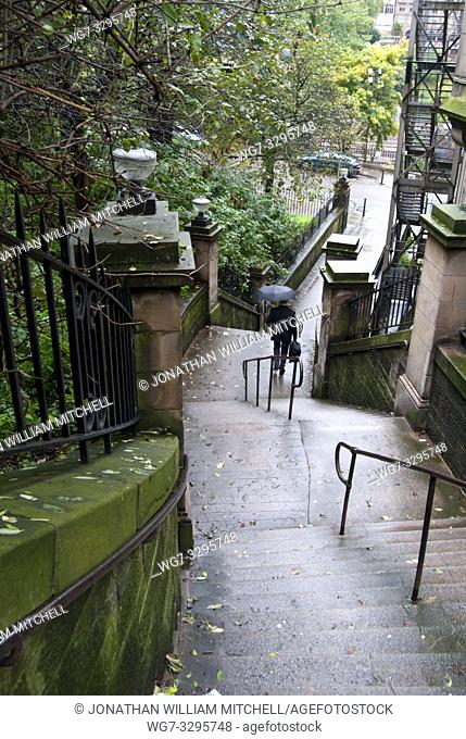 UK SCOTLAND Edinburgh -- 10 Sep 2010 -- The News steps in the Old Town of Edinburgh Scotland UK -- Picture by Jonathan Mitchell | Lightroom Photos | ScotFoto