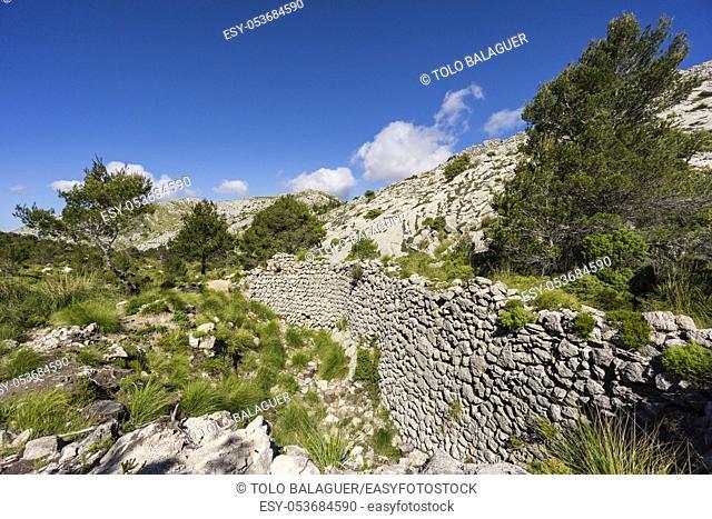 Casa de Neu, Coll Coloms, Snowhouse, Construction already documented in 1636, Sierra de Tramuntana, municipality of Escorca, Mallorca, balearic islands, spain