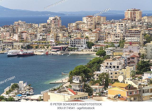 Stadtansicht Saranda, Albanien, Europa   city view Sarande, Albania, Europe