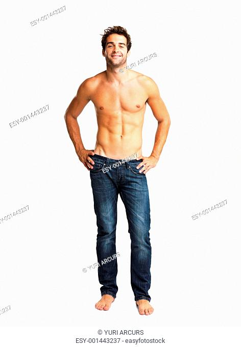 Man smiling with his hands on hips