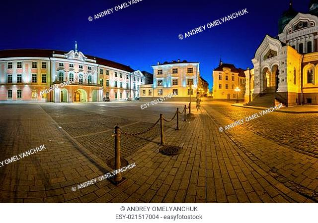 Lossi Plats Square and Alexander Nevski Cathedral in the Evening, Tallinn, Estonia