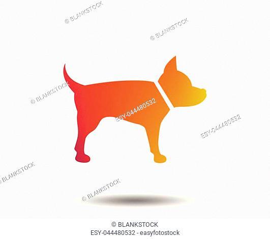 Dog sign icon. Pets symbol. Blurred gradient design element. Vivid graphic flat icon. Vector