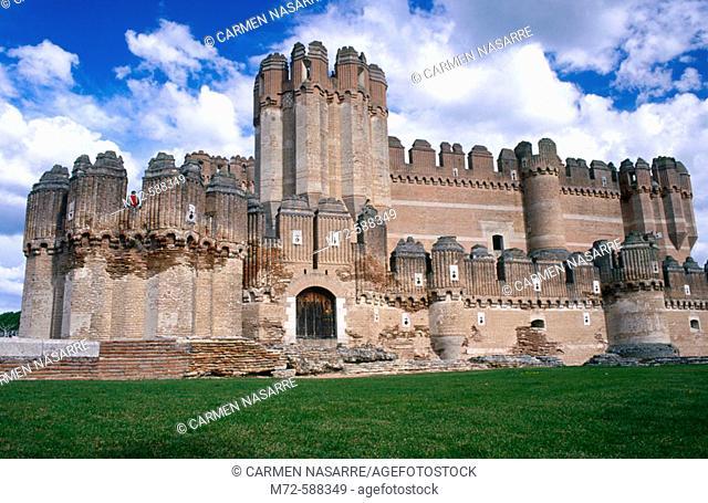 Castle, Coca. Segovia province, Castilla-Leon, Spain